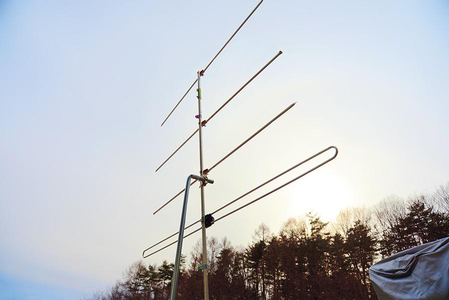 FM電波観測用のアンテナ